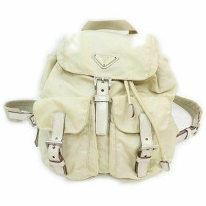 Prada Beige Twin Pocket Backpack 860985